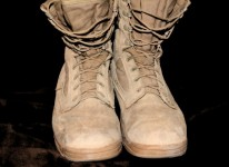 military boots war