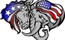 democrat republican gop dnc rnc election elephant donkey vote politics