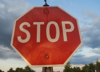 stop sign defund block