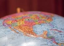 north america globe texas arizona mexico colorado
