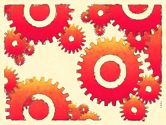 gears work accomplish task to do action
