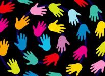 hands minorities diversity kids