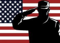 troop american soldier serviceman salute military  army navy marines air force