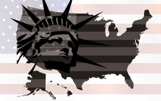 flag map america u.s. usa statue of liberty wfp