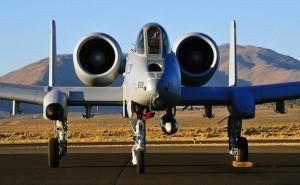 A-10 Warthog airplane jet