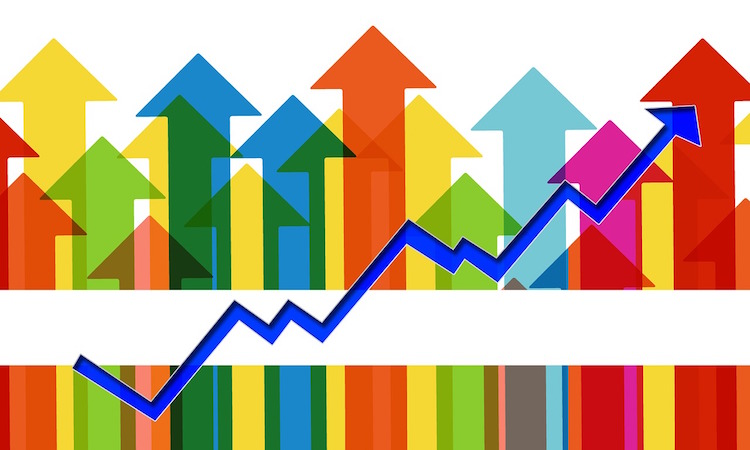 arrows chart graph growth trend data wfp