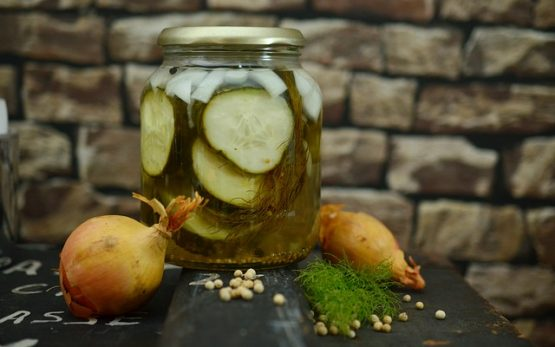 Jar of home-made pickles