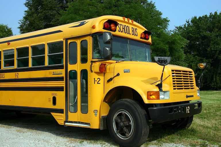 school bus parked