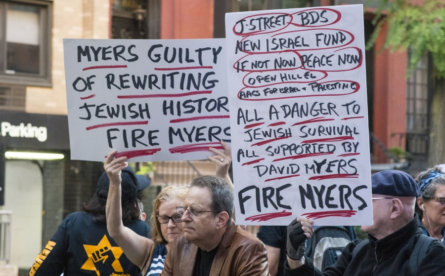 Protest Hiring CEO David Myers at Center for Jewish History